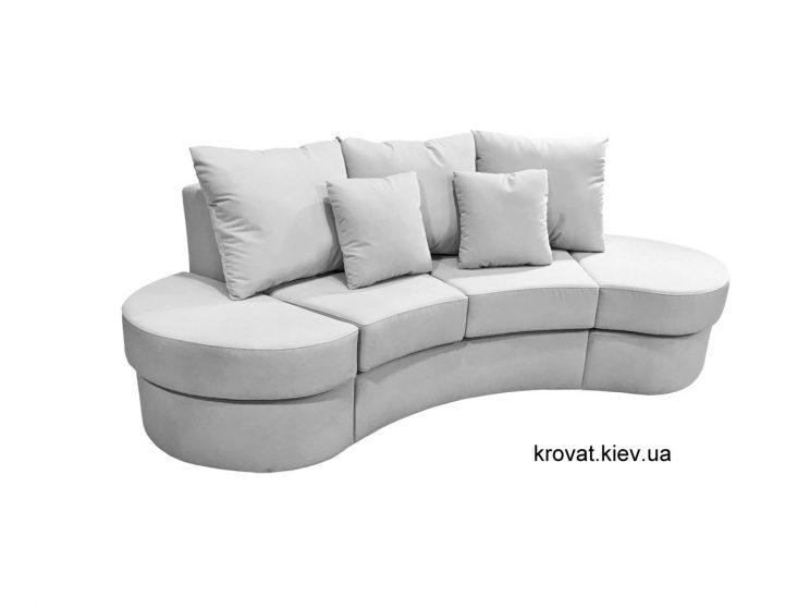 маленький полукруглый диван