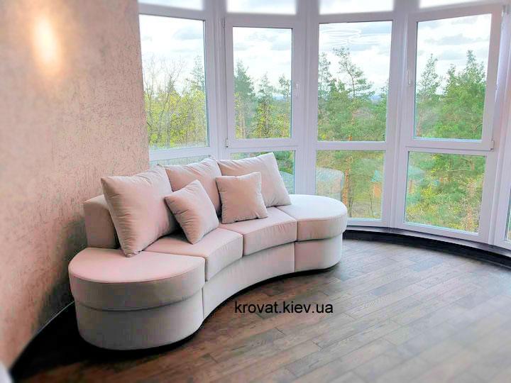диван с полукруглой спинкой на заказ