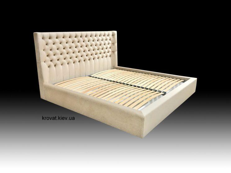 ліжко з м'яким заокругленим узголів'ям 200 на 200