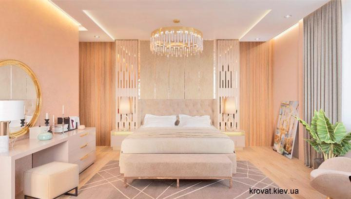 дизайн проект ліжка в спальні на замовлення
