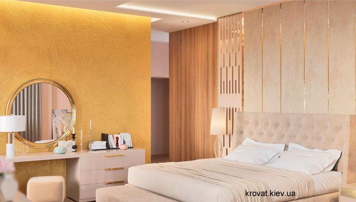 дизайн проект ліжка із закругленою спинкою