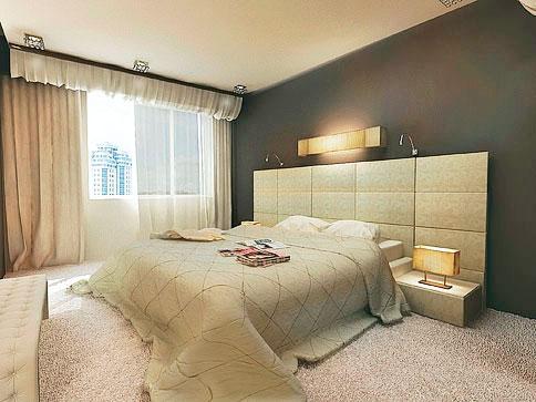 кровать с мягкой стеновой панелью на заказ