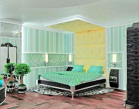мягкая стеновая панель над кроватью