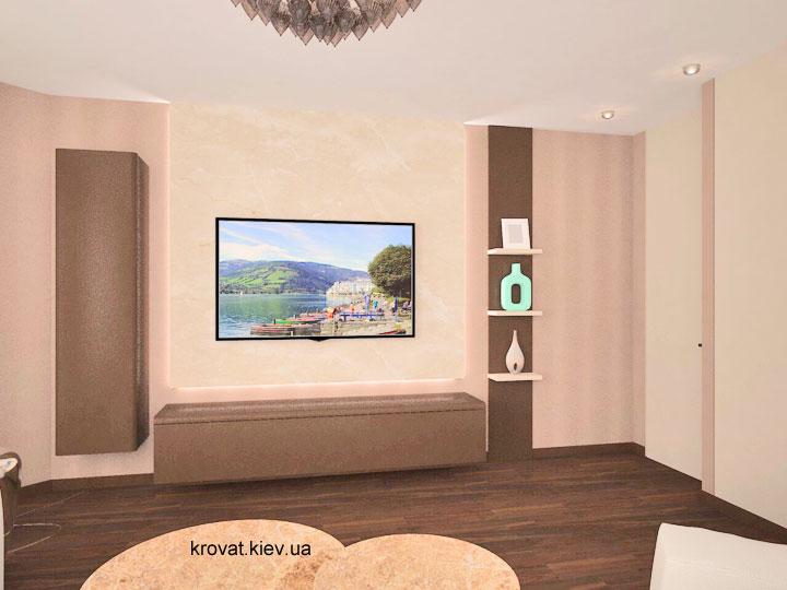 дизайн проект тумбы под телевизор в гостиную