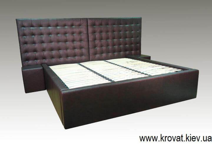 цены на кровать в коже на заказ