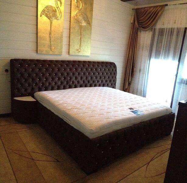 цены на кровать Честер с пуговицами
